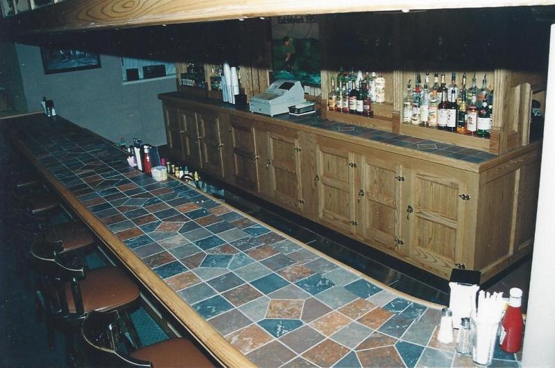 Ceramic Tile Bar Top Designs