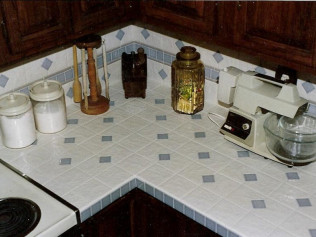 Ceramic Tile Installations: Counter Tops
